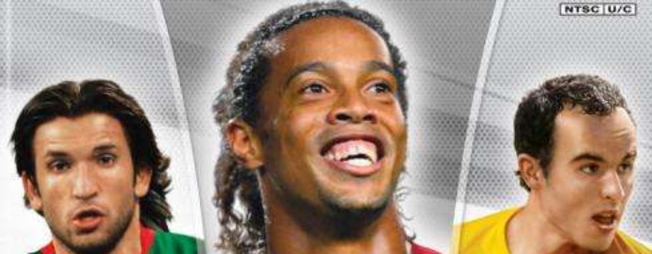 Ronaldinho repeated in 2006. Francisco Fonseca and Landon Donovan were on the rgional covers.