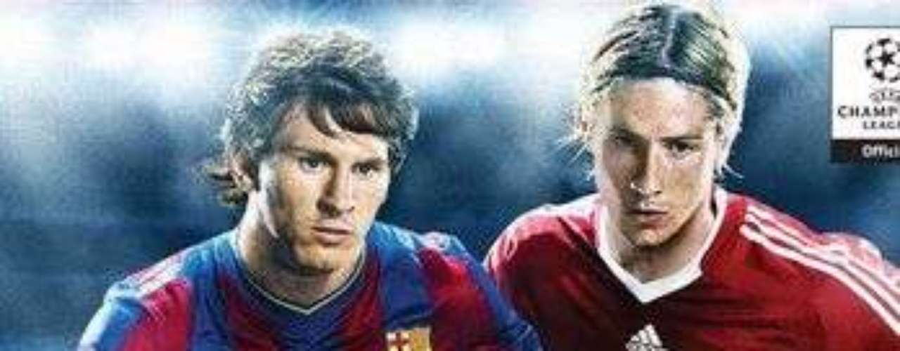 Messi remained on the PES cover in 2009, sharing space with Fernando Torres.