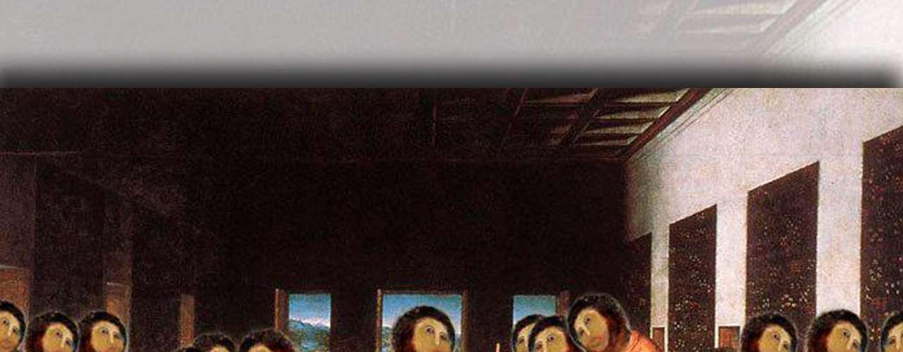 Esta es una versión de 'La Última Cena', de Leonardo da Vinci, al estilo del 'Ecce Homo'.