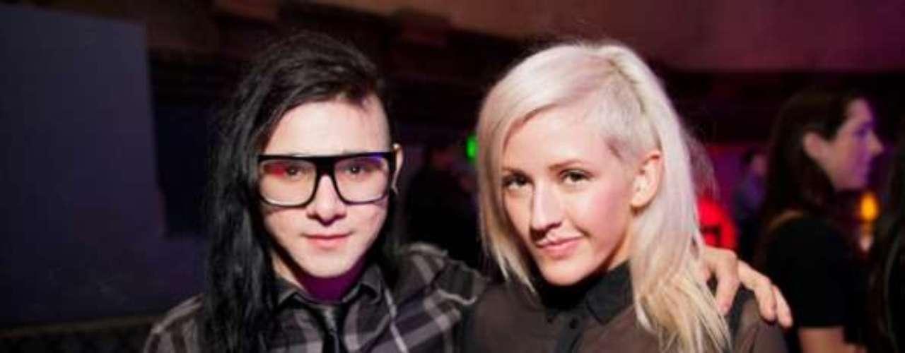 10. Skrillex y Ellie Goulding. Pese a su juventud (él tiene 24 años y ella 25), la pareja ha vendido 1.1 millones de copias, que corresponden en su mayoría al álbum 'Halcyon', de Goulding.
