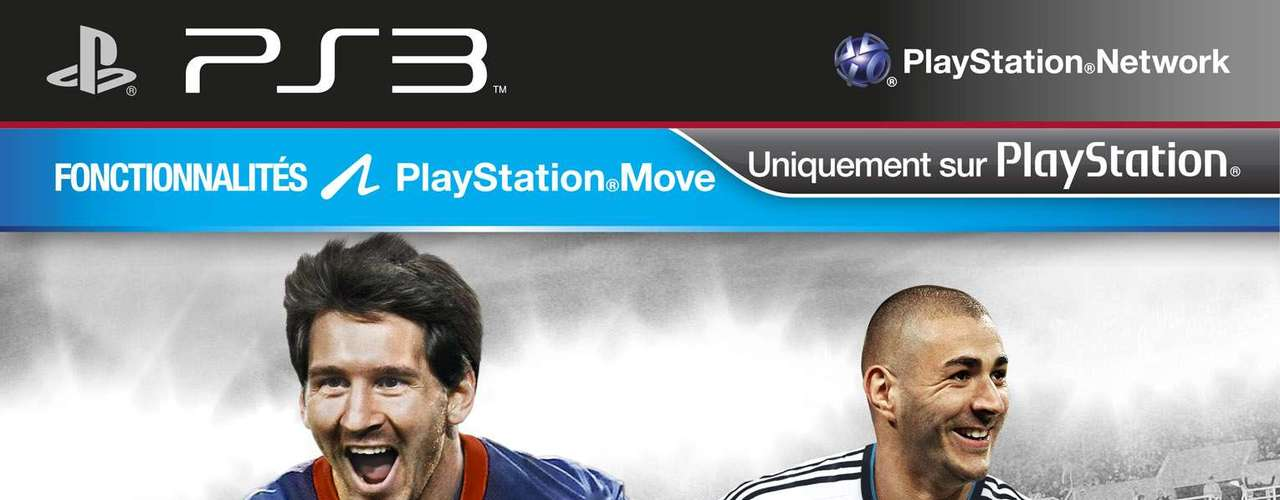 Messi and Karim Benzema (right) on the French FIFA cover.