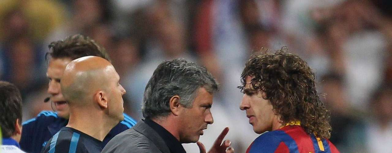 Mourinho's also had problems with the Barcelona players. When coaching at Chelsea, he gave Carles Puyol a 'friendly' slap in the face.