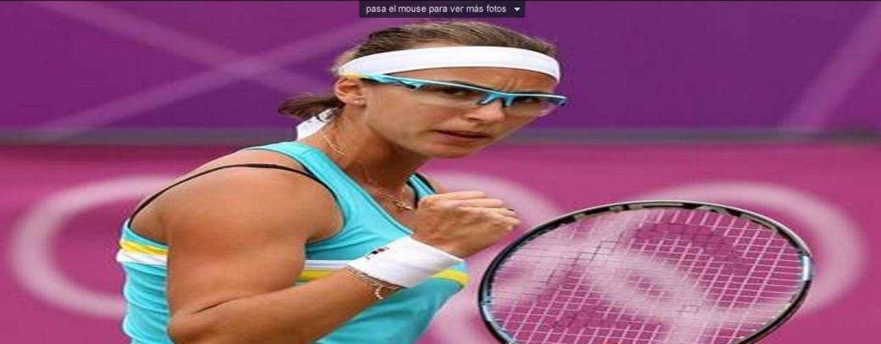 Yaroslava Shvedova of Kazakhstan shines on and off the court.