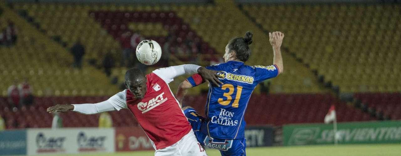 Cristian Martínez Borja debutó con Independiente Santa Fe, luciendo la camiseta número 19.