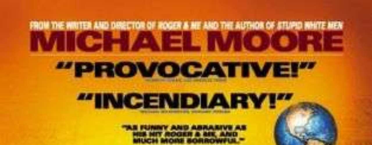 Bowling for Columbine (2002): También dirigido por Michael Moore, este documental que antecede a Fahrenheit 9/11, toma como punto de partida el tiroteo en 1999 en el instituto Columbine High School para realizar una reflexión sobre la naturaleza de la cultura violenta en Estados Unidos. Aunque no se centre en la figura del presidente, el filme, ganador del Oscar 2002, critica la postura del gobierno de George W. Bush y la libertad para adquirir armas en ese país.