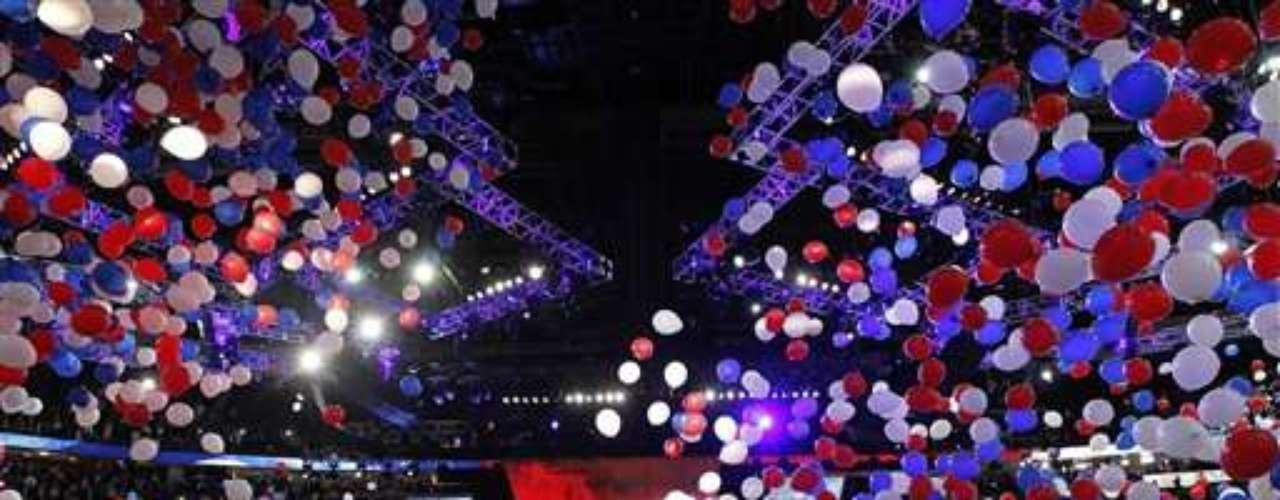 Una fiesta fue la que se vivió al cierre de la convención republicana en Tampa, Florida. Las bombas llenaron el auditorio donde se llevó a cabo la ceremonia