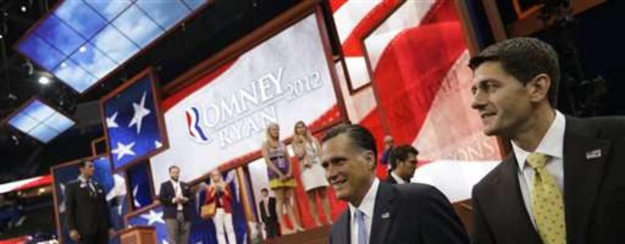 Mitt Romney siempre se mostró seguro en la convención republicana. Su carisma se ganó a los asistentes al recinto donde se llevó a cabo la ceremonia