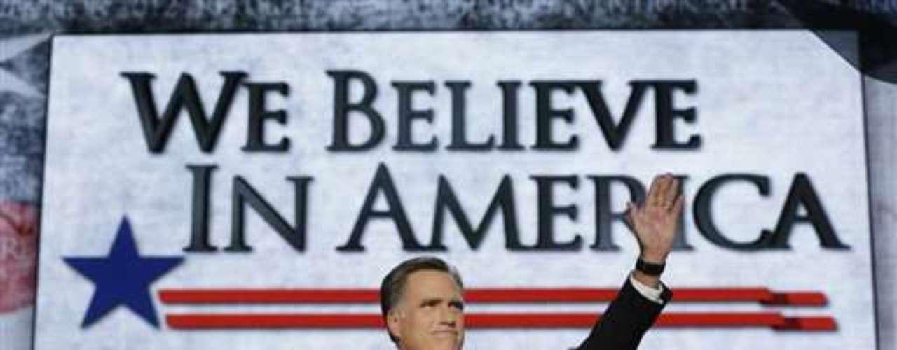 El candidato Mitt Romney dio un discurso en donde varias frases fueron dirigidas al presidente Barack Obama