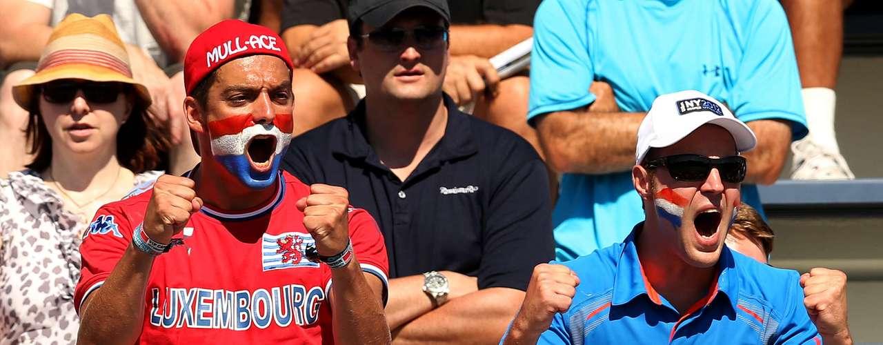 Luxembourg's Mandy Minella got a lot of love during her match against Czech Republic's Kristyna Pliskova.