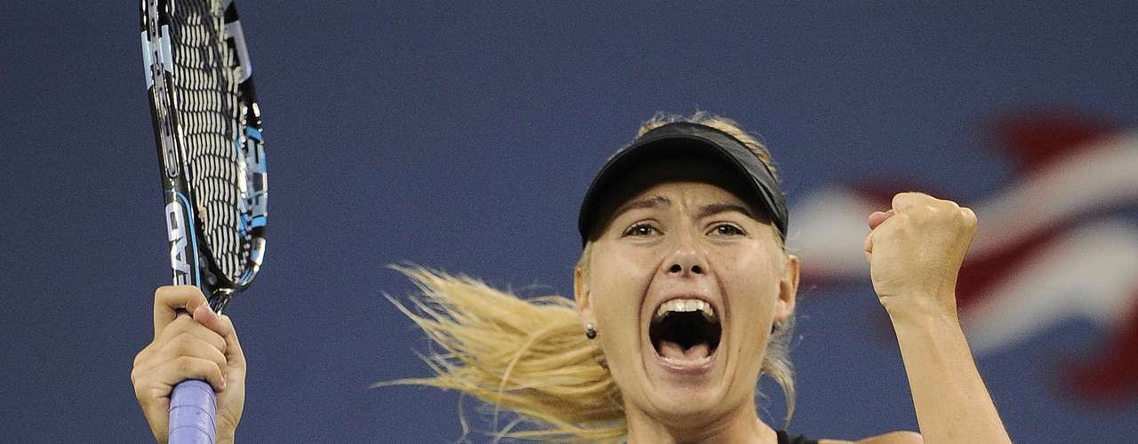 As always, the grunts and celebrations of Maria Sharapova were the center of attention, like when she celelbrated her victory over countryman Nadia Petrova in the fourth round of the US Open.