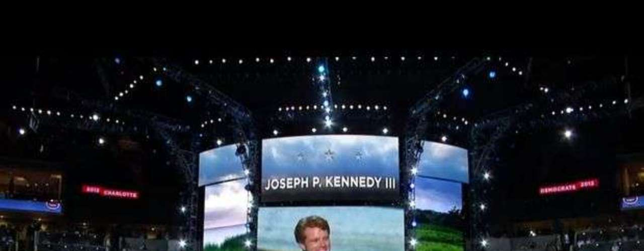 Joseph Kennedy III participó del homenaje al exsenador Ted Kennedy este martes en Carolina del Norte.