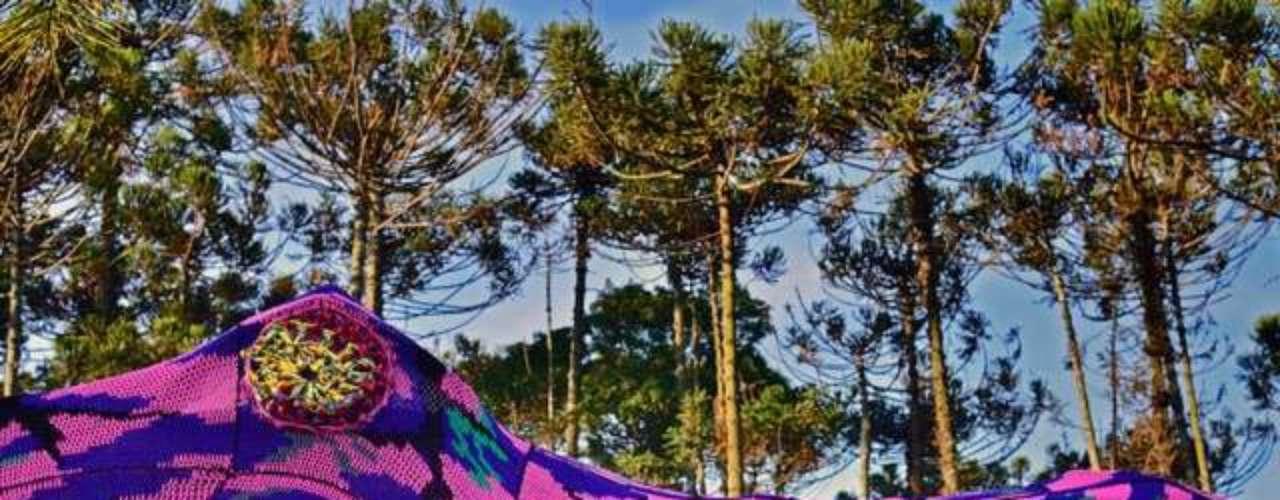 Justo de la fusión entre áreas verdes y arte es que resultó esta creación. Este cocodrilo gigante se encuentra en Sao Paulo.