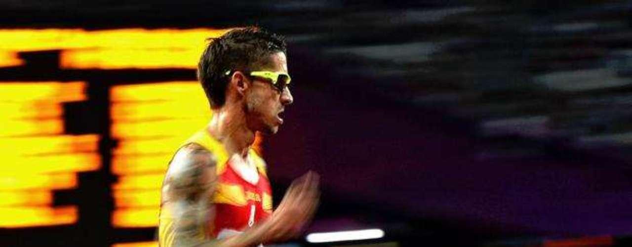La velocidad de este atleta durante la carrera puede ser observada en esta imagen.