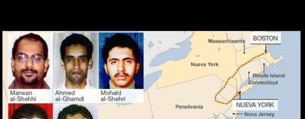 08:54:00 - El vuelo No.77 de American es secuestrado.