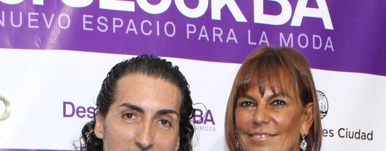 César Juricich con Leticia Carosella
