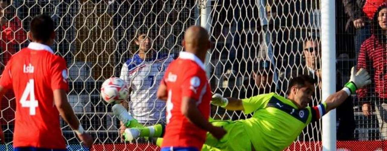 Así fue el cobro de James Rodríguez que derrotó a Bravo y marcó el empate parcial en Santiago de Chile