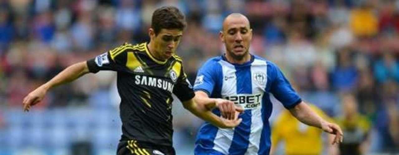 7.- OSCAR: El joven brasileño llegó al Chelsea desde el Internacional por 32 millones de euros.