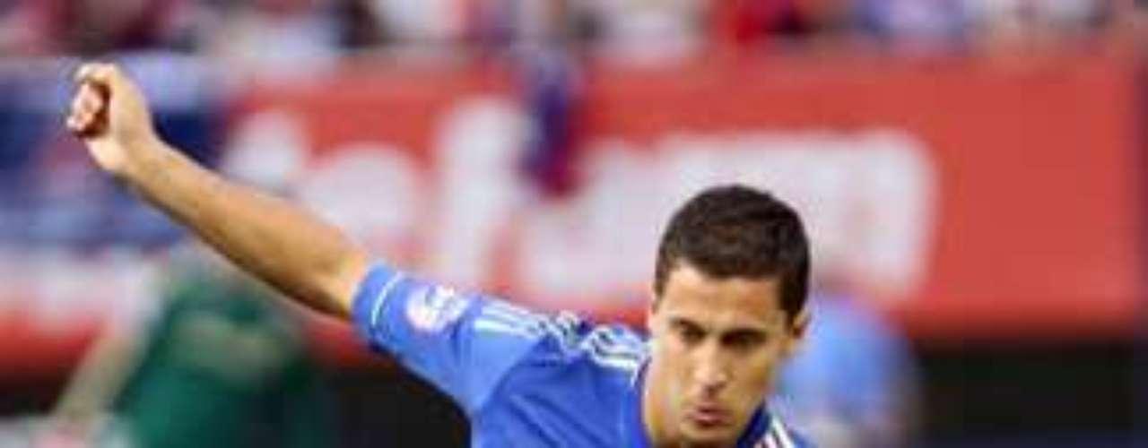 3.- EDEN HAZARD: El delantero belga llegó al Chelsea desde el Lille francés por 40 millones de euros.