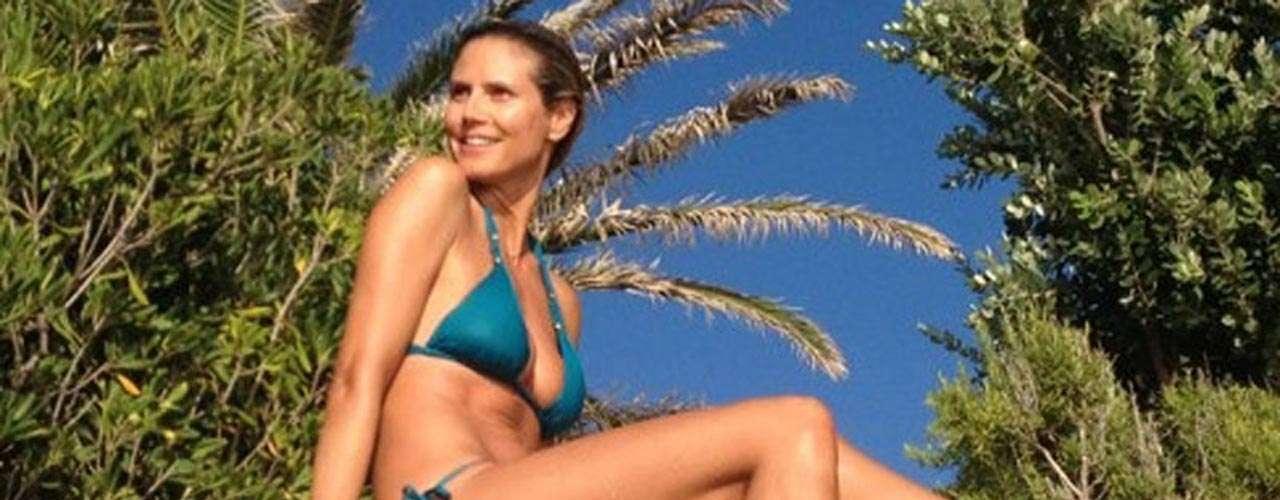 Sin reflectores, Heidi Klum presume su candente anatomía en las redes sociales.