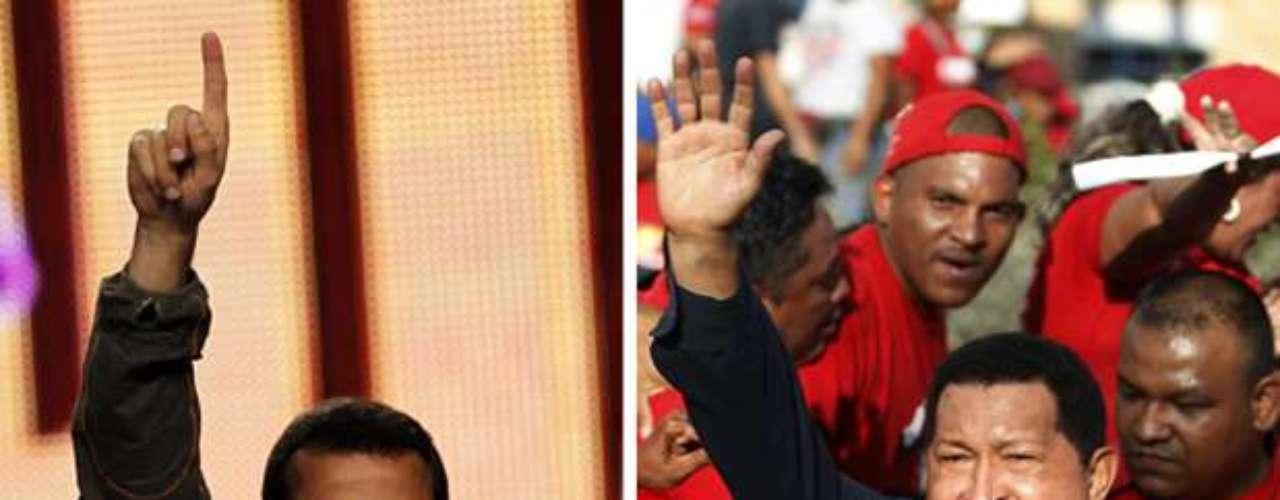 Aunque sólo Hugo Chávez (der) y Henrique Capriles Radonski acaparen casi la totalidad de la atención de la prensa, no son los únicos candidatos a la presidencia de Venezuela. Conozca los otros cinco aspirantes que sueñan con llegar al Palacio de Miraflores.