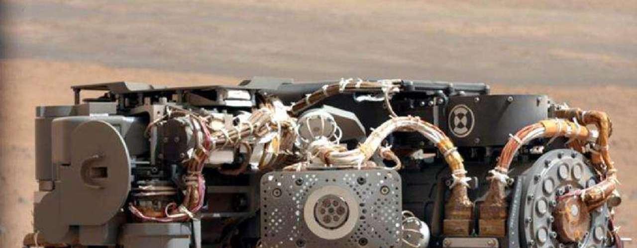 Imagen del espectrómetro empleado por el Curiosity con el fin de hacer placas de rayos x de la superficie de Marte.