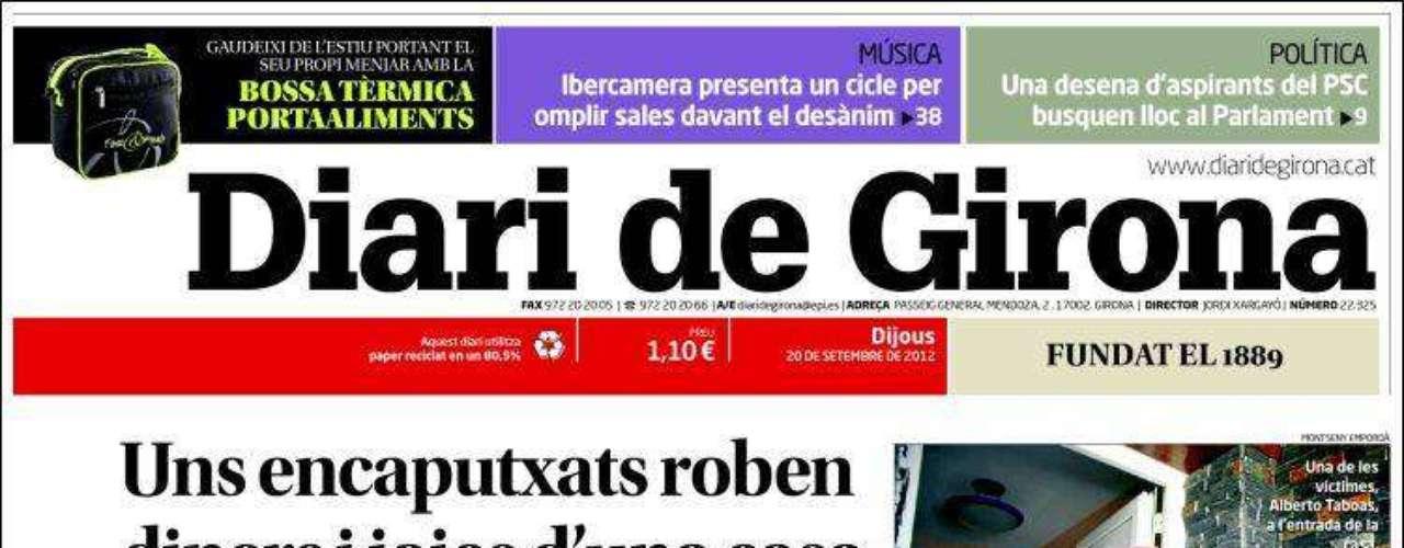 'Diari de Girona' destaca que las elecciones anticipadas planean sobre la reunión Mas-Rajoy de hoy.