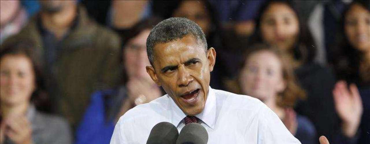 En la mitad de la tabla se ubica el presidente de Estados Unidos, Barack Obama, que consiguió el pase para la Casa Blanca en 2008 y aspira a renovarlo el próximo 6 de noviembre, con un 49% de aprobación popular.