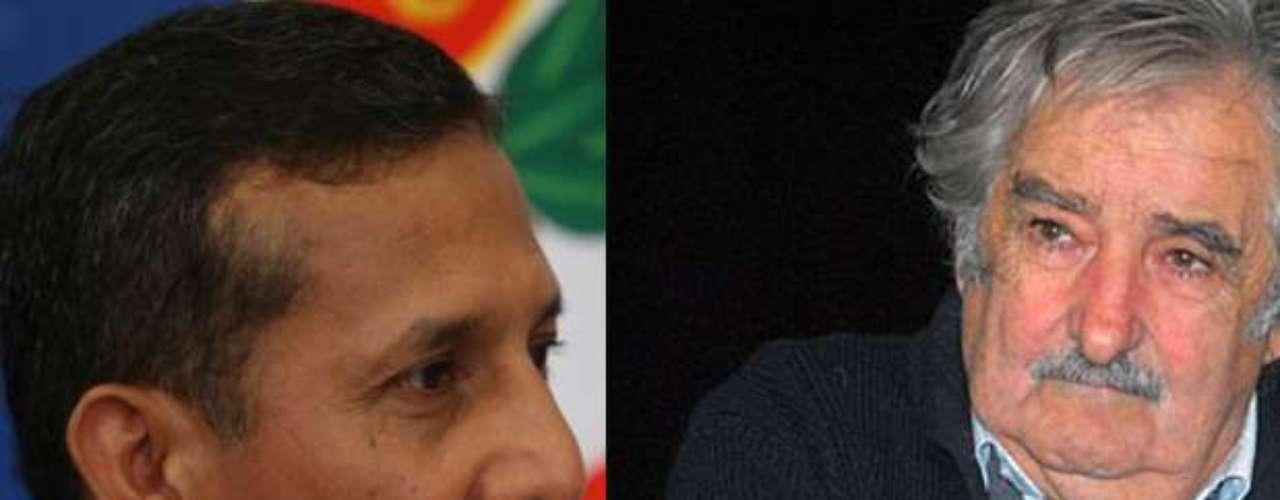 Los presidentes de Perú, Ollanta Humala (2011) y Uruguay, José Mujica (2010), cuentan con un respaldo del 40%.
