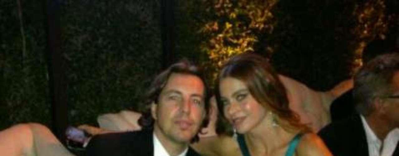 Sofía disfrutó con mucha gente querida. Aquí con su mejor amigo, Alejandro.
