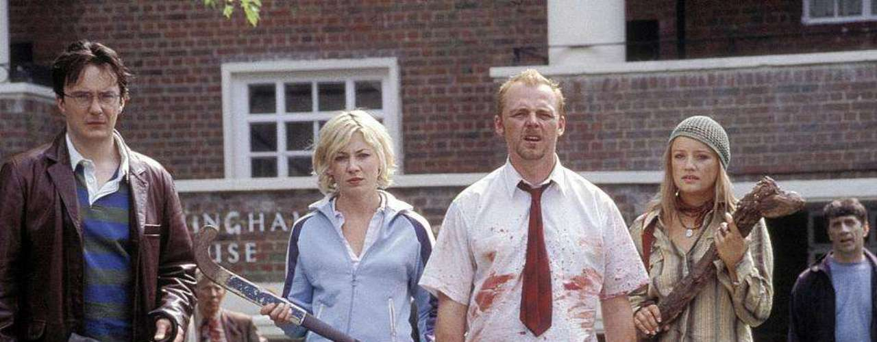 9. Shaun of the Dead: La graciosa historia de un hombre moribundo que trata de recuperar a su ex novia pero debe enfrentarse a una invasión de zombies. La película provoca 1.3 risas por minuto