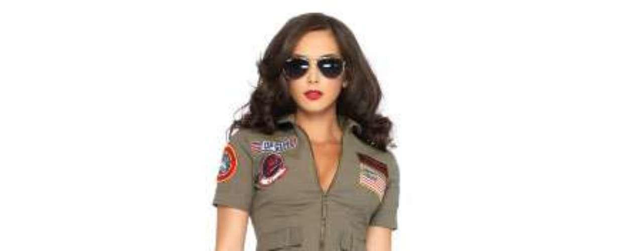 Si eres de aquellas que quedaron prendadas a Top Gun, aquí está el  uniforme que te querrás poner y él querrá despegar! ¡Un   vuelo salvaje  cuando te pones este vestido !