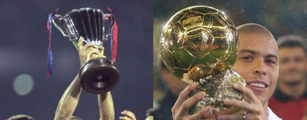 Ronaldo brilló en ambos clubes, aunque con ninguno pudo conseguir la Liga de Campeones de Europa.