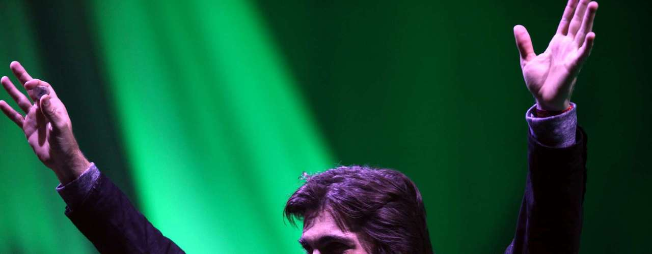 El cantante colombiano se gozó de principio a fin su primer concierto en Uruguay.
