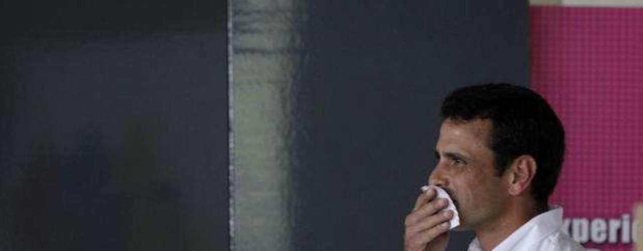 El candidato de la derecha, Henrique Capriles, reconoció su derrota en la noche del domingo. \