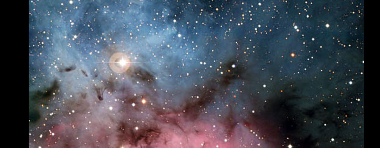 Esta es la fábrica de estrellas denominada Nebulosa Trifurcada. Será la cuna de nuevas estrellas en el futuro. La imagen fue capturada en el observatorio de La Silla, en Chile.