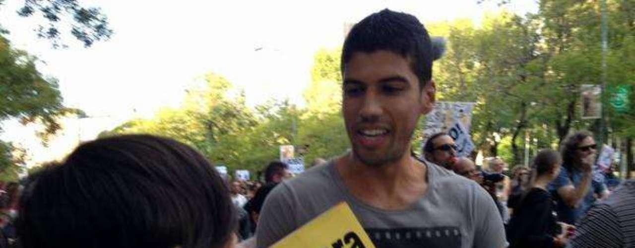 Un equipo de Terra cubrió en directo la manifestación en Madrid desde su comienzo ante la sede de la Unión Europea.