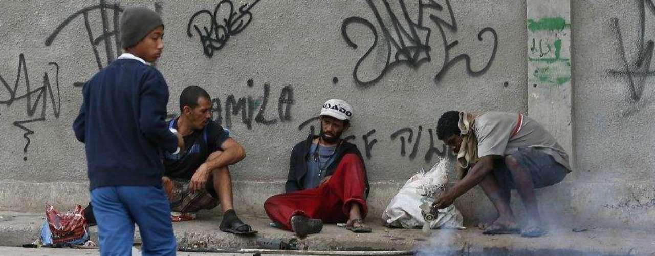 Las calles estaban practicamente desiertas, solo pobladas por algunos adictos al crack.