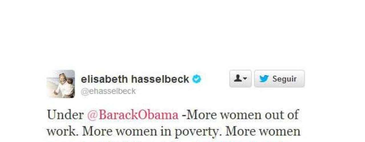 Elisabeth Hasselbeck criticó a Obama cuando el presidente habló sobre las mujeres. \