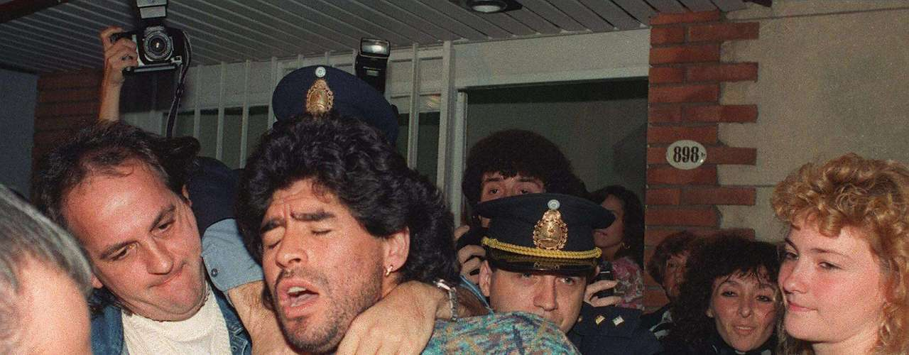 Diego Maradona often had troubles on and off the field for his statements and his drug addiction. He served a 15 month suspension in 1991 for testing positive for Cocaine and was sent home from the 1994 World Cup after testing positive for ephedrine. He would suffer serious health issues after his career due to his drug use, and he continues to be a controversial figure most recently as the head coach of the Argentinean national team.