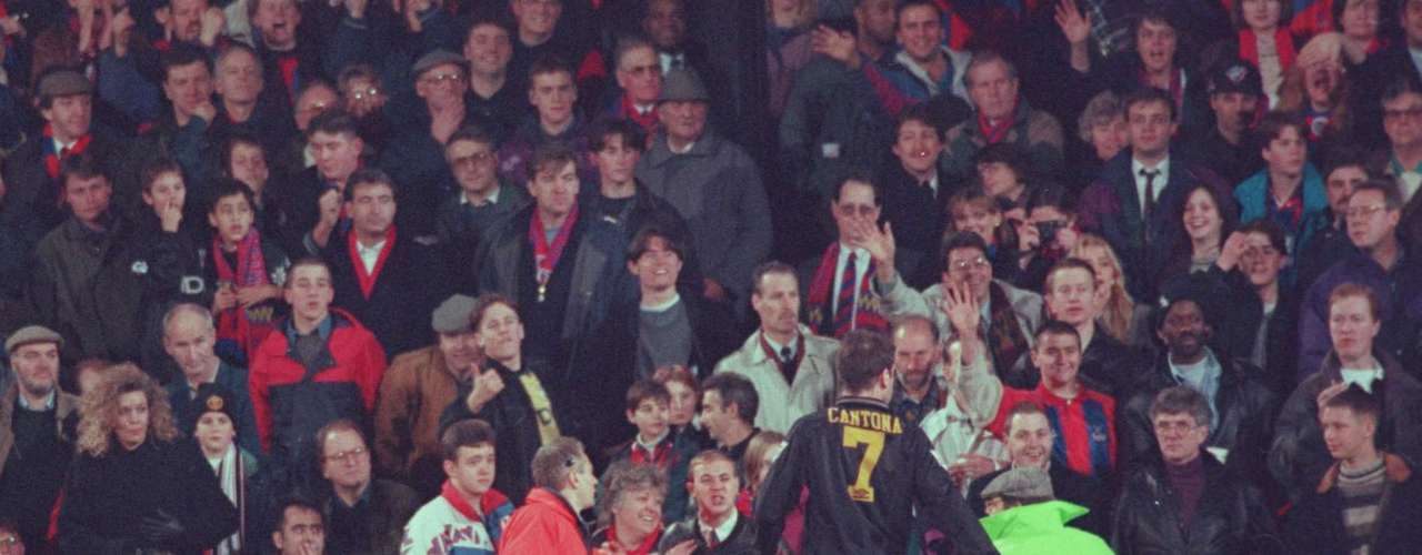 Eric Cantona will always be remembered for his karate kick against a fan while playing for Manchester United, resulting in an assault charge and ban.