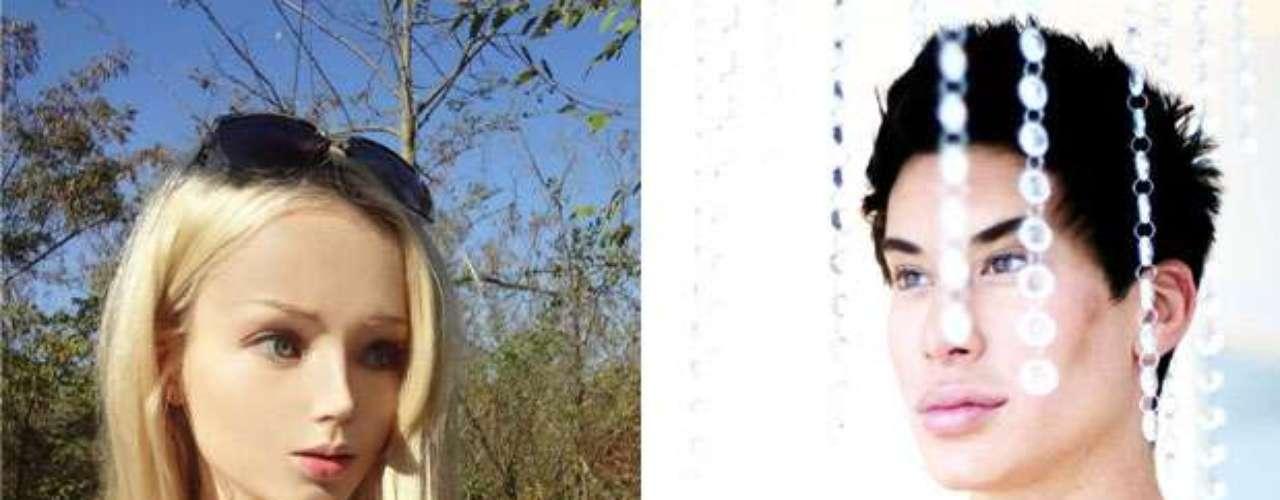 Valeria Lukyanova es la joven rusa, más conocida como la Barbie humana,  quien a sus 21 años llama la atención por su increíble parecido con la legendaria muñeca y Justin Jedlica el hombre que persigue a cualquier precio tener un físico como el novio de Barbie.