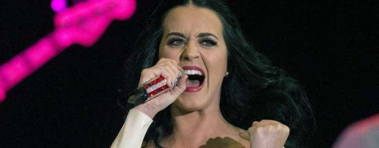 Katy Perry was in ultra-destruction mode at 2009's V Festival in London. She broke a guitar and touched her unmentionables and invited the audience to do the same! For shame, Katy!