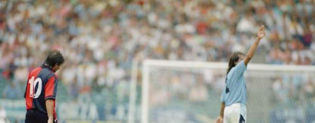 'Gazza' tuvo un paso desafortunado por la Lazio de Italia.