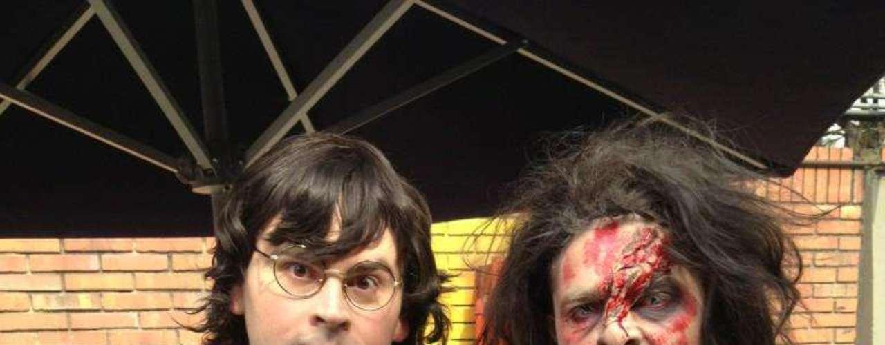 Los comediantes Diego Camargo y Ricardo Queveo lucieron muy originales durante el programa 'Muy buenos días'.
