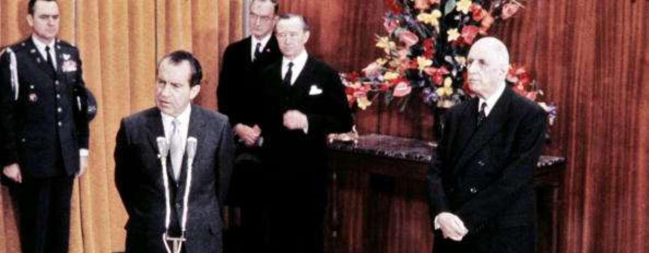 Richard Nixon fue el 37º presidente de Estados Unidos. Así asumió la presidencia, en 1969.