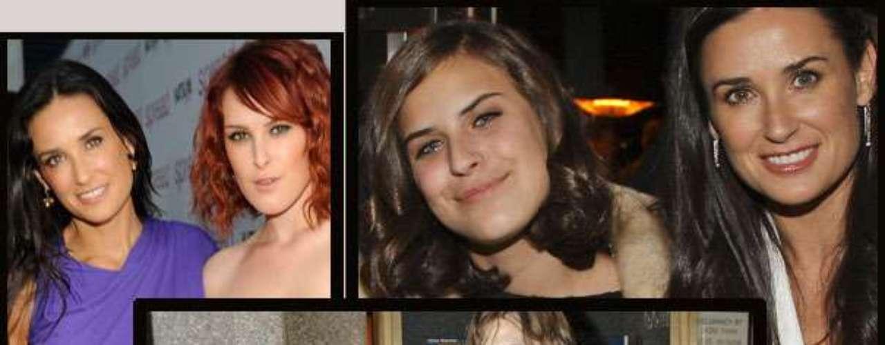 Rummer y Tallulah son las hijas de  de Bruce Willis y Demi Moore, ambas son una mezcla - que no las favorece en nada -  de los dos actores y seguramente previa a las cirugías de Demi