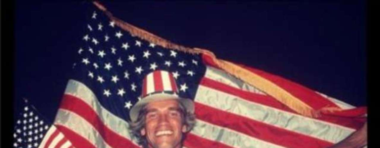 Meanwhile, in an effort to win the vote for Mitt Romney, former governor, Arnold Scharzenegger, Tweeted a photo of when he first became a citizen. Perhaps he needed a better angle?