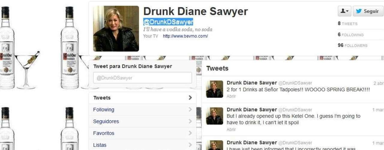 Un tema caliente en las redes fue la ola de bromas sobre el desempeño de la veterana periodista de ABC News,Diane Sawyer, quien provocó que algunos cibernautas comentaran que se puso a celebrar más temprano con unas copas. Cerca de las 10 p.m. cuando se aprestaba a dar los resultados Sawyer dijo, \