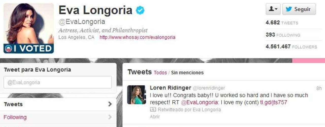 Los comentarios de Eva Longoria, quien formó parte de la campaña de Obama tampoco se hicieron esperar. \