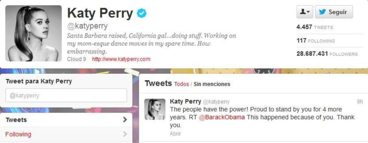 Katy Perry reaccionó diciendo, \